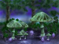 Shroomvine mushrooms grapes vine crystals wallpaper