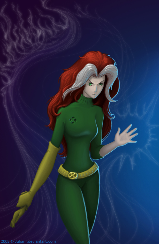 Rogue exposed by Juhani x-men character art