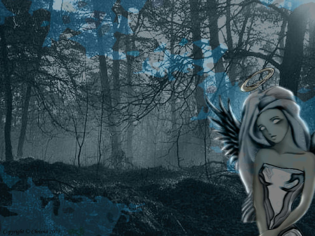 angel woods sad angel wallpaper woods forest empty art
