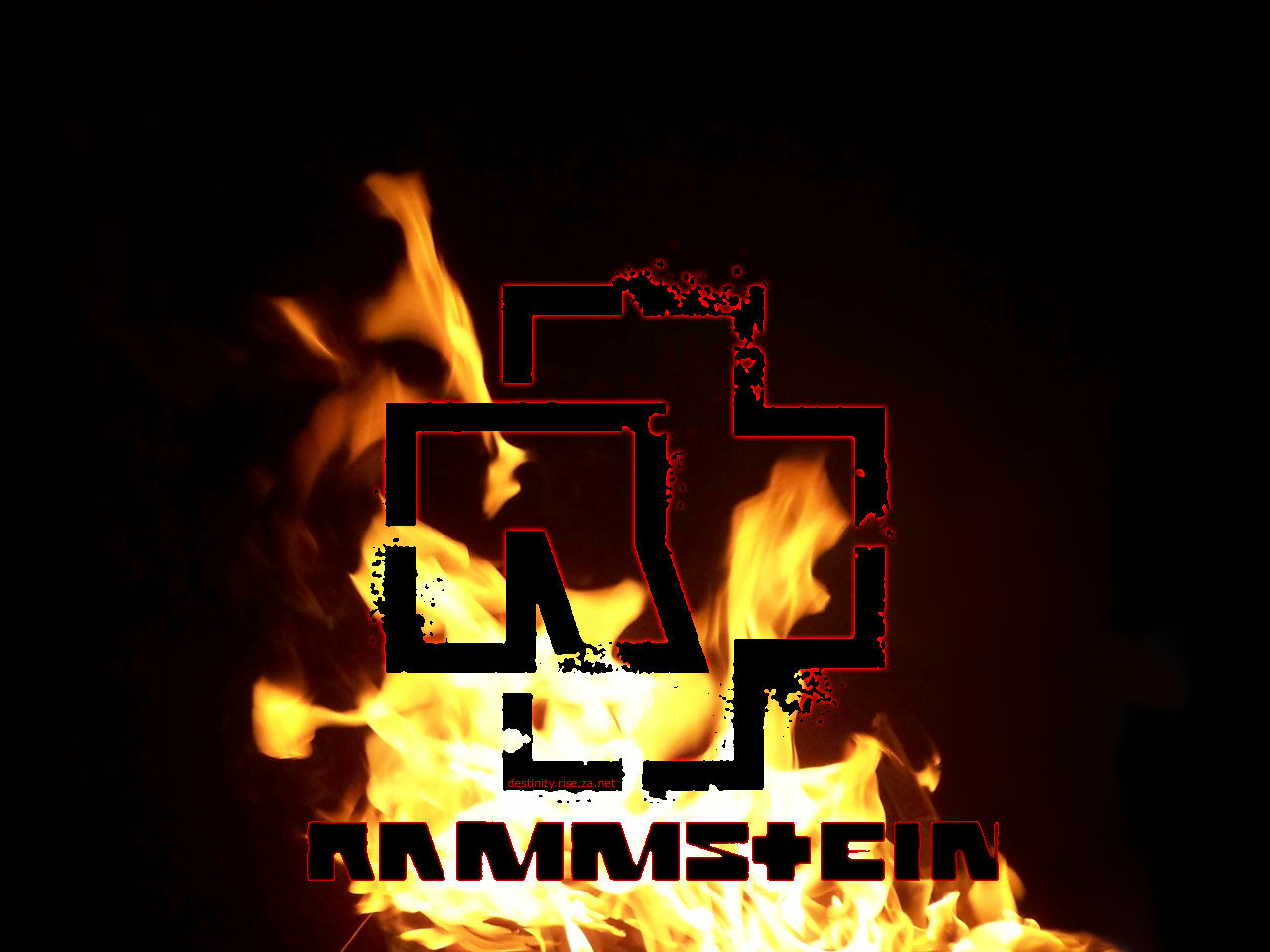 rammstein wallpaper 1 logo fire flames black red dark background art